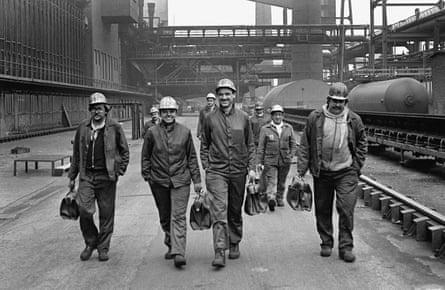 Coking plant Zollverein, Coal Mine Industrial Complex in Essen, workers
