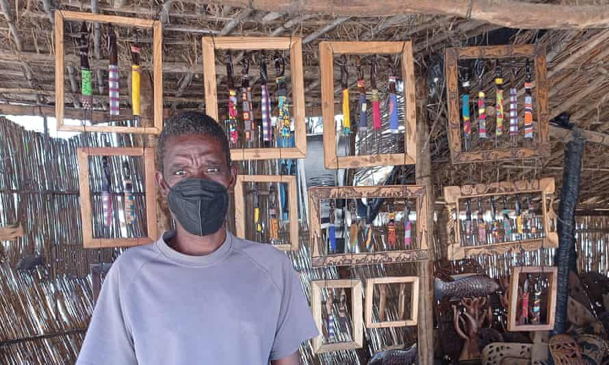 Before pandemic Potiphar Tilinga sold souvenirs to tourists, now he is struggling to make a living.