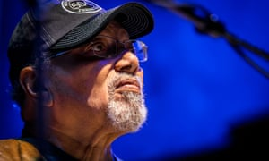 Art Neville playing with the Funky Meters in July 2015.