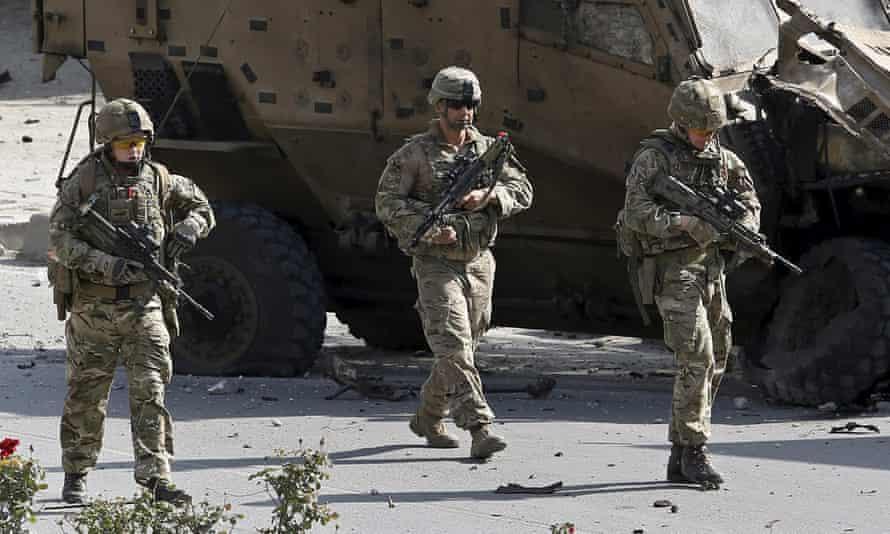 Nato troops on patrol in Kabul last year.
