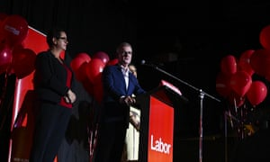 The New South Wales Labor leader, Michael Daley, concedes defeat at the Labor's party's reception in Coogee