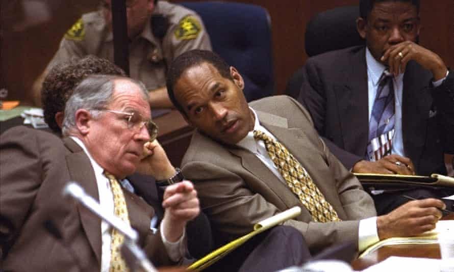 F Lee Bailey at the OJ Simpson murder trial in 1995. Bailey was the most valuable member of his defense team, Simpson said.