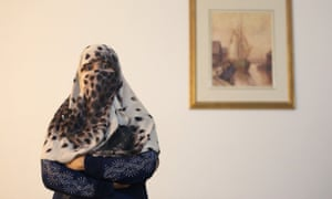Zunera Ishaq, woman who launched the legal challenge against Ottawa's niqab ban at citizenship oath-taking ceremonies, poses in her home.