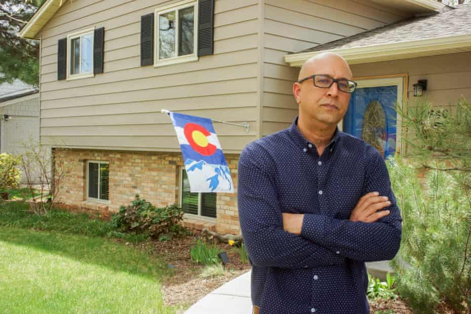 Tony Pigford, a Black, fourth-generation Denverite, in front of his home