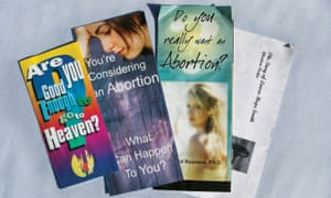 The pamphlets a fake abortion clinic gave Melissa.