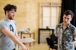 Ash Flanders and Declan Greene in rehearsals for Lilith at the Melbourne Theatre Company