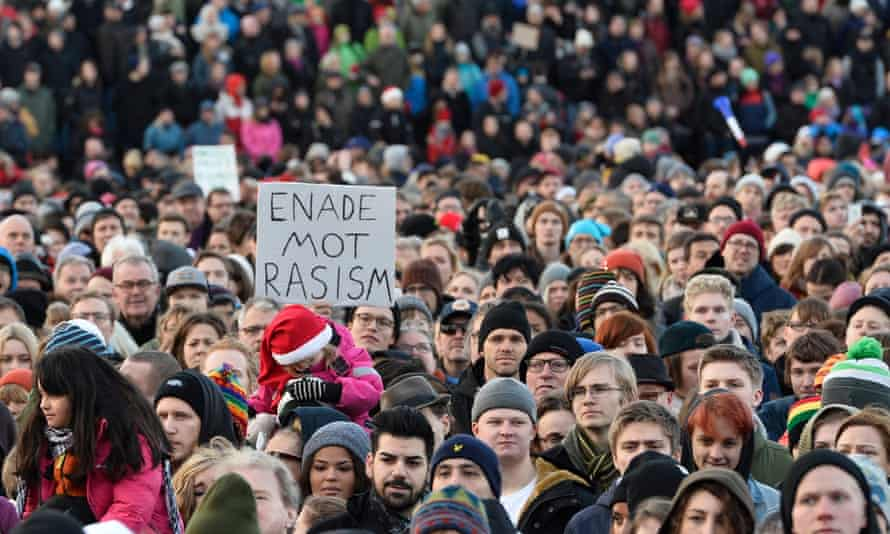 Anti-racism demonstration in Stockholm