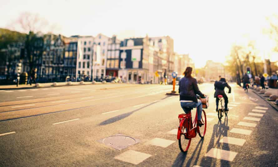 In Amsterdam, cycling accounts for 48% of journeys made.