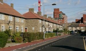 A residential street in Dagenham, Essex.