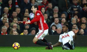 Danny Rose was booked for his tackle on Henrikh Mkhitaryan who is the second player the Tottenham full-back has injured this season following Arsenal's Héctor Bellerín in November.