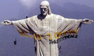 Christ the Redeemer on top of Corcovado mountain, Rio de Janeiro