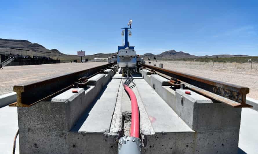 a shot of the hyperloop test site near las vegas