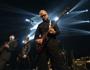 Tony Visconti on stage in Toronto with his Bowie tribute group, Holy Holy.