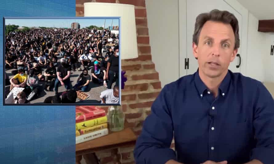 Seth Meyers: 'Trump and the police establishment are obviously threatened by the widespread popularity of the protests.'