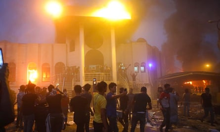 Fire at Iranian consulate building