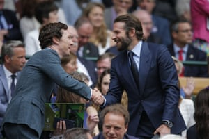 Cumberbatch shakes hands with Bradley Cooper