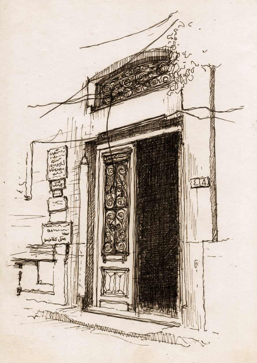 The entrance of the building where the Greek poet Constantine P Cavafy lived for most of his life. It now hosts the Cavafy Museum.