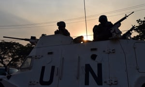 UN peacekeeping forces in Central African Republic.