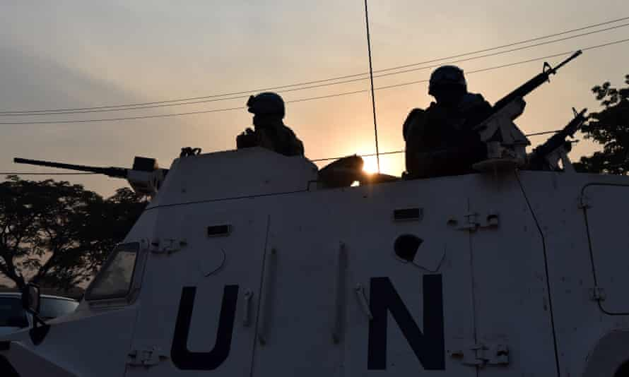 UN peacekeeping forces in Bangui in the Central African Republic