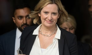Amber Rudd arrives at BBC studios in London