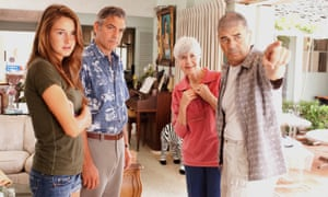 Robert Forster, right, with, from left, Shailene Woodley, George Clooney and Barbara Southern, in The Descendants, 2011.