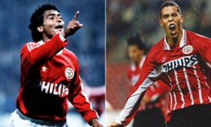 Double Dutch: Romário, let, and Ronaldo were both prolific in their early career days spent with PSV Eindhoven in the Eredivisie.