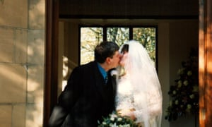 Karen and David on their wedding day … 'After 12 years of not understanding each other, I started to see that he couldn't help his behaviour.'