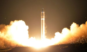 The missile tested by North Korea in November, which sparked the latest round of UN sanctions.