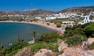 Galissas bay at Syros island in Greece