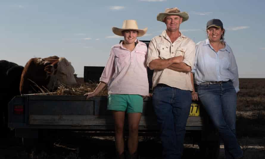 Matt Ireson, his wife Sandra and daughter Pip