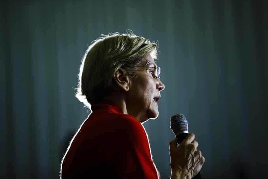 Senator Elizabeth Warren during a campaign event in Cedar Rapids, Iowa, on 26 January.