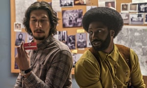Adam Driver, left, and John David Washington in BlacKkKlansman, directed by Spike Lee.