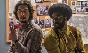 Adam Driver and John David Washington in Spike Lee's BlacKkKlansman.