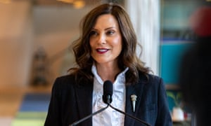 Michigan governor Gretchen Whitmer provided an update on COVID-19 return-to-work guidelines in May