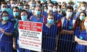 Junior Doctors protest outside Secret Cinema production of 28 Days Later on 20 Apr 2016