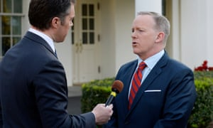 Sean Spicer apologizes during a TV interview for his Hitler comparison while discussing Syria's use of chemical weapons.