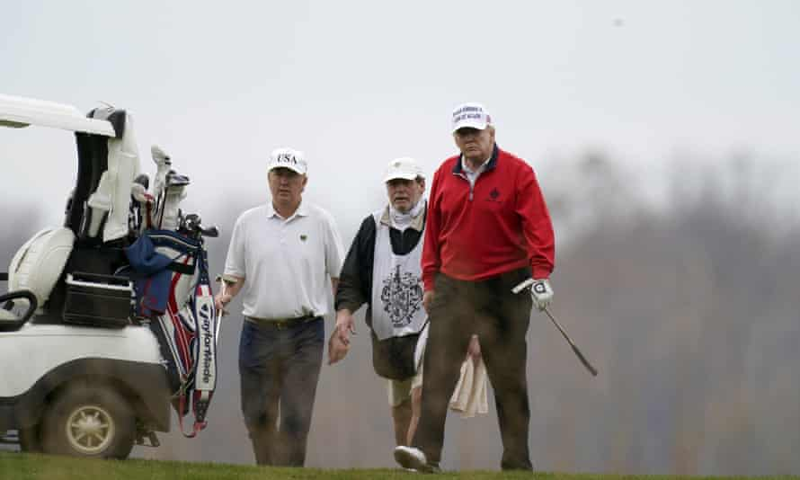 Donald Trump at Trump National Golf Club in Sterling, Virginia, on 21 November.