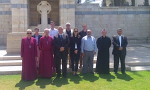 Archbishop Justin Welby and Archbishop Suheil visit the Commonwealth War Cemetery in Gaza