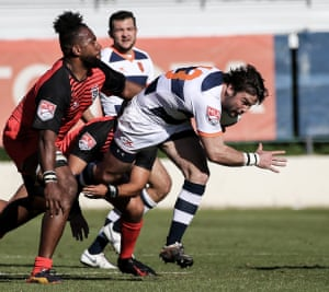 Ben Foden in action during Rugby United New York's 25-23 win over San Diego Legion.