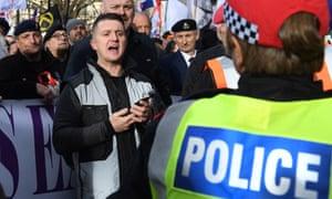The far-right activist Tommy Robinson.
