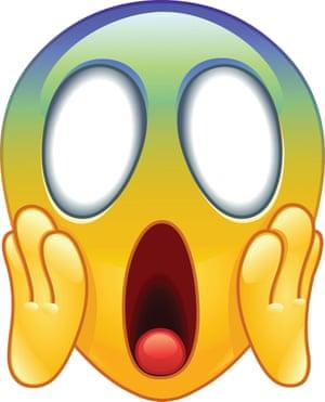 The scream emoji.