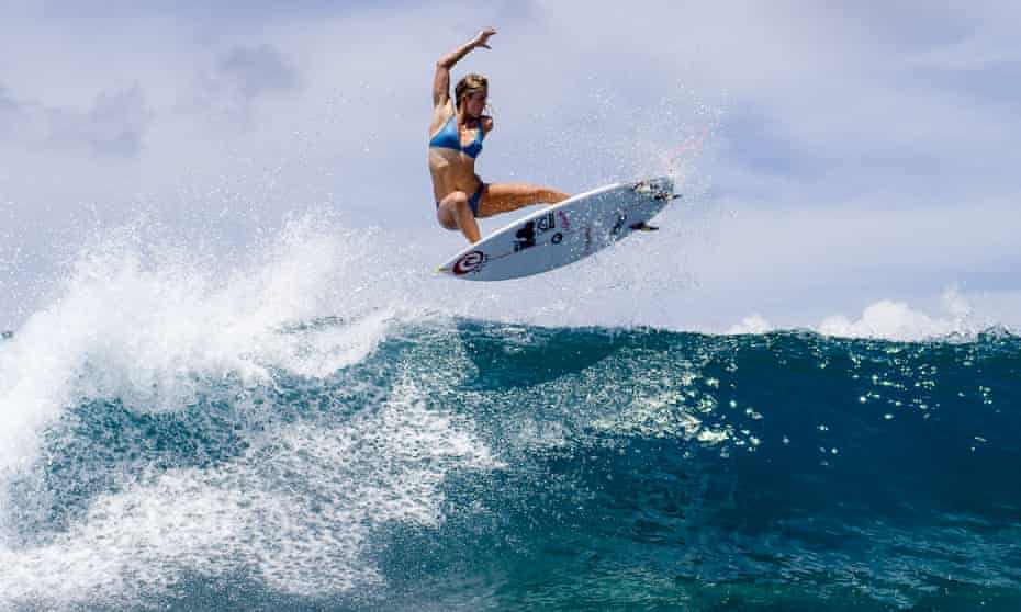 Bethany Hamilton practises her airs in Bali, Indonesia