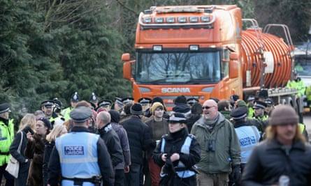 Anti-fracking protests at Barton Moss, UK