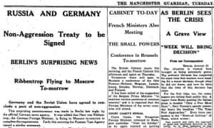 Manchester Guardian, 22 August 1939.