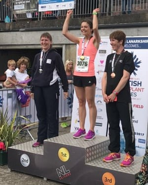 Going for gold: Ellie on the medals podium