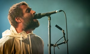 Liam Gallagher performing in Milan in February.