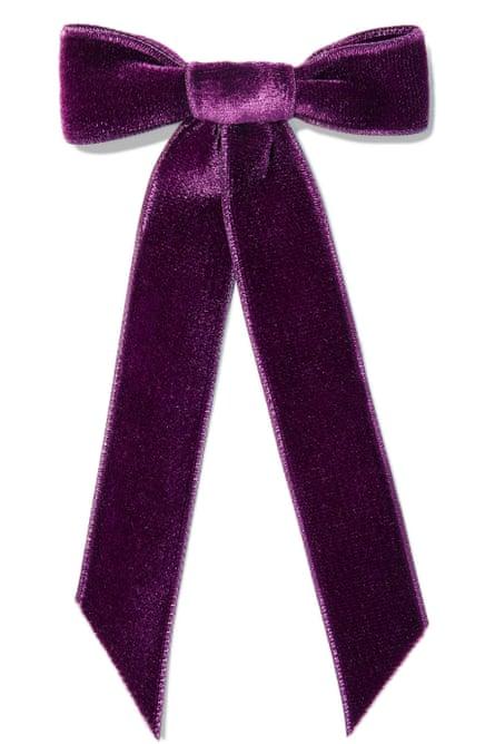 Jennifer Behr Velvet bow hairclip £95