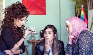 Mouna Hawa, Sana Jammalieh and Shaden Kanboura in Maysaloun Hamoud's In Between.