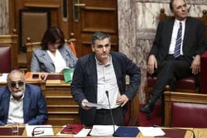 Greece's Finance Minister Euclid Tsakalotos hopes to finally unlock €11bn of bailout loans today