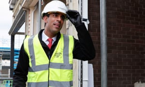 Rishi Sunak visiting a construction site at the Northern School of Art in Hartlepool this morning.